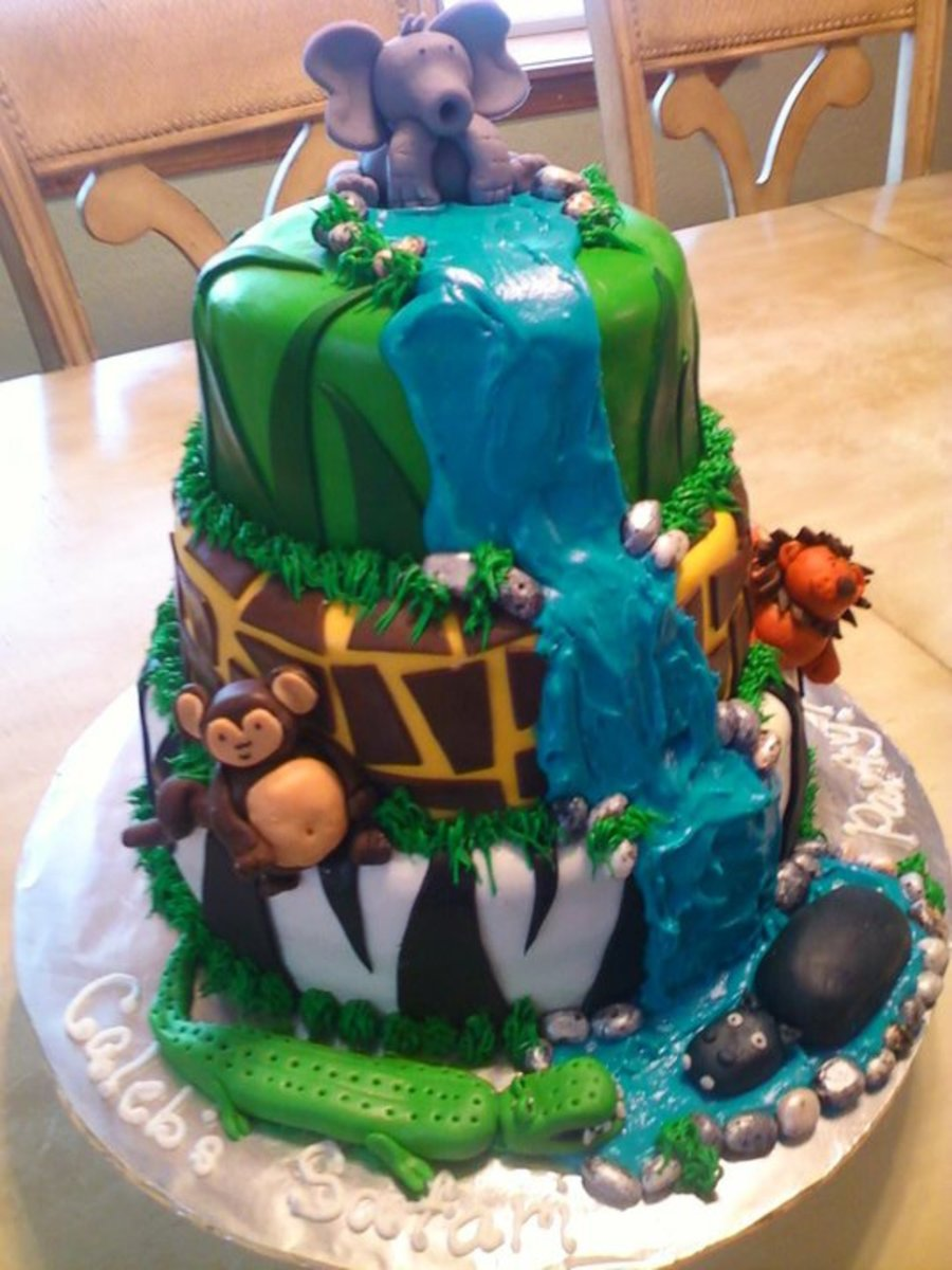 Jungle Theme Cake on Cake Central