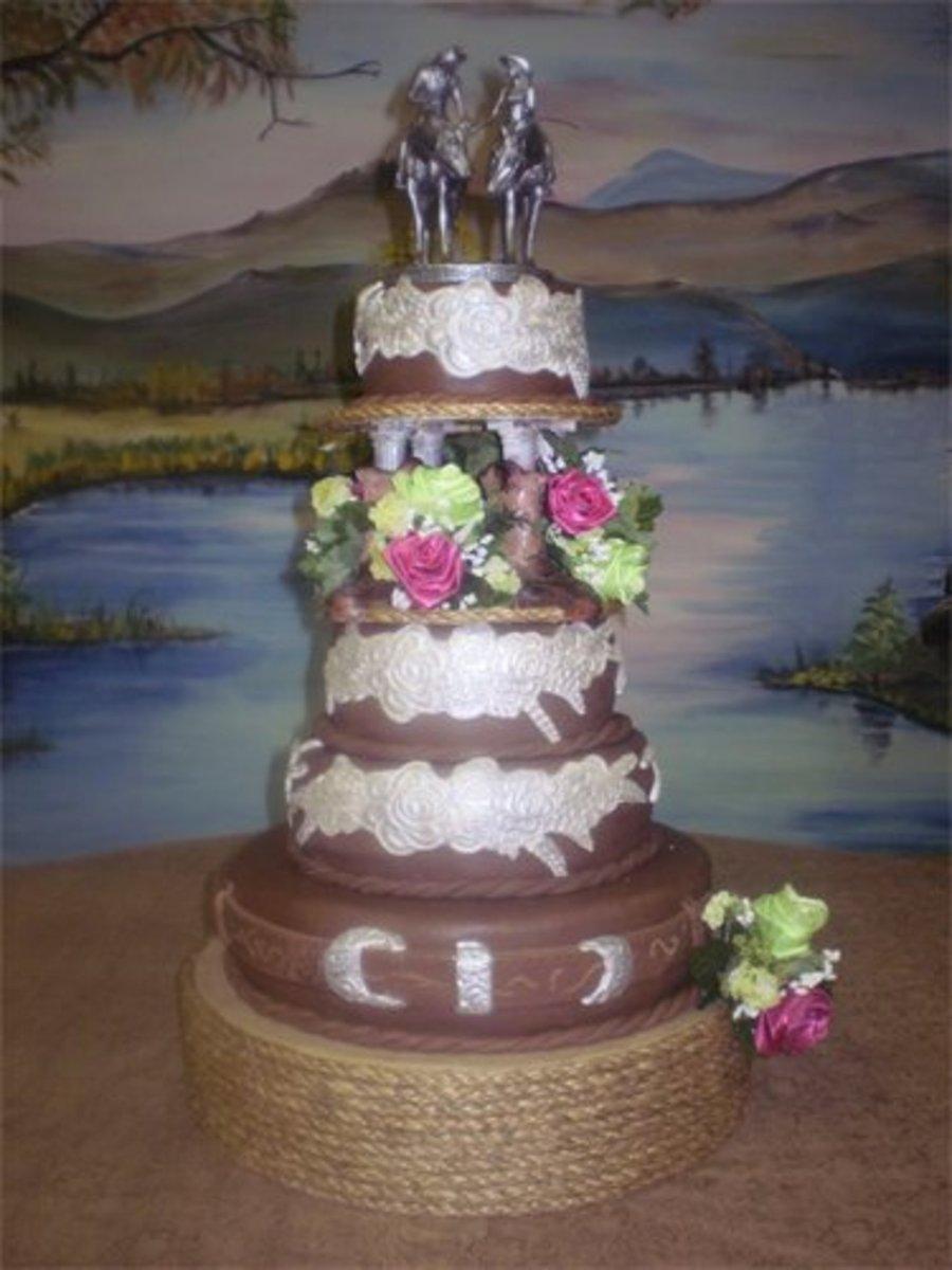 Western Theme Wedding Cake - CakeCentral.com