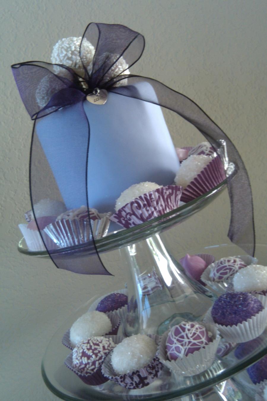 lavender bridal shower cake pops on cake central