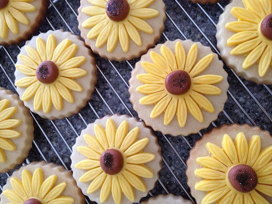 Sunflower Cookies on Cake Central