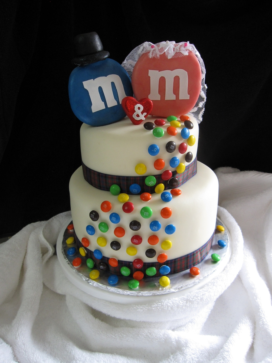 M&m Wedding Cake  on Cake Central