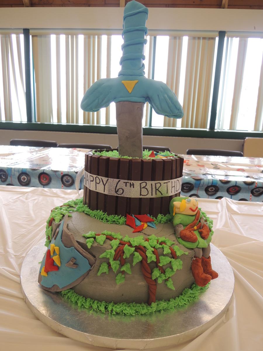 Zelda Link Sword Sheild Cake Cakecentral Com