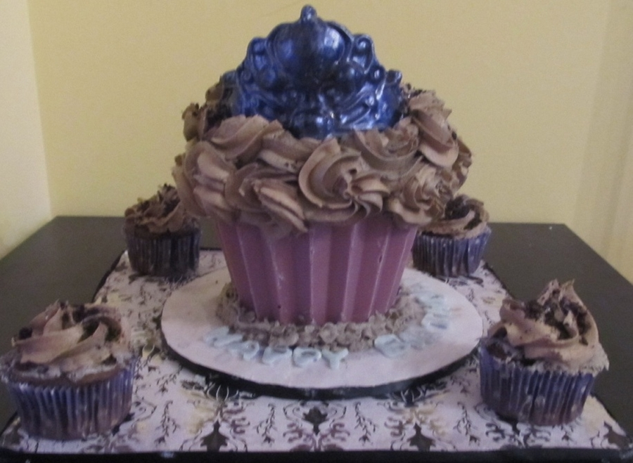 Giant Princess Cupcake on Cake Central