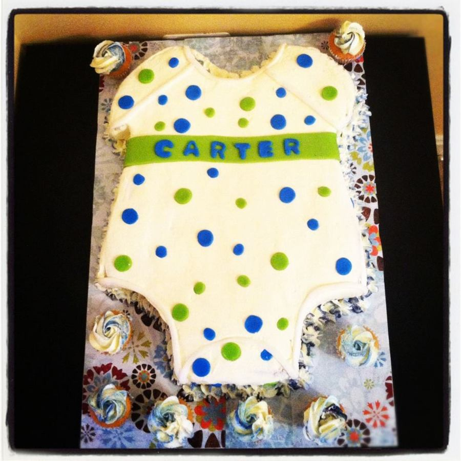 Baby Onesie Cake  on Cake Central