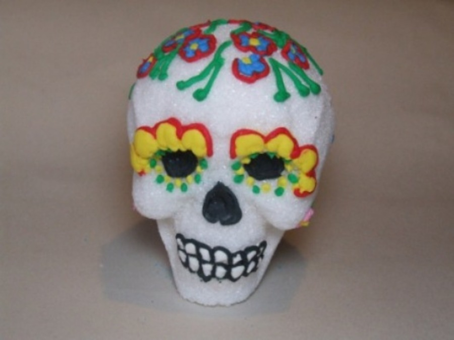 Skull Day Of The Dead on Cake Central