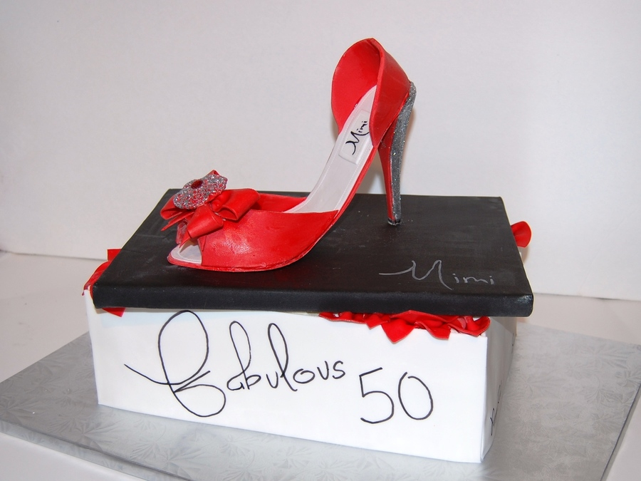 50Th Shoe on Cake Central