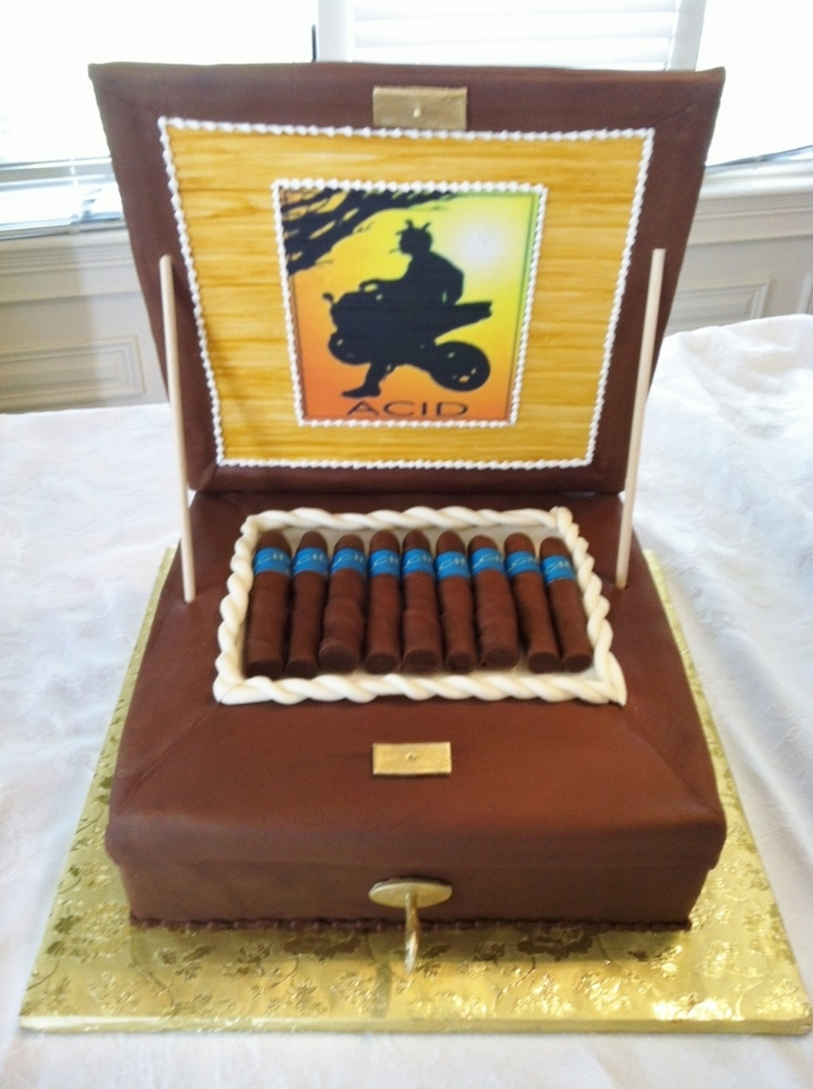 Fondant Covered Cakes And Hand Rolled Chocolate Cigars Edible ...