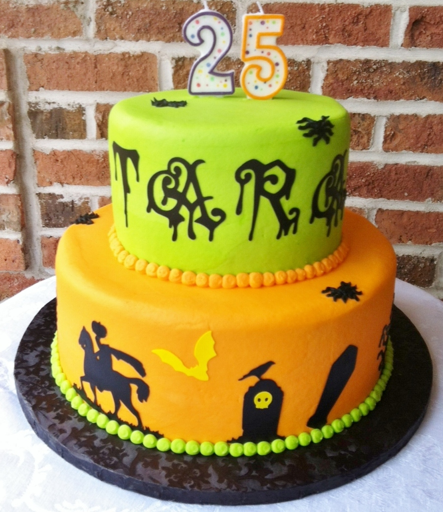 Buttercream Icing A Halloween Birthday Cake Thanks For Looking  on Cake Central