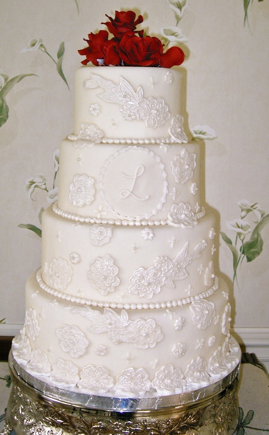 Lace Applique on Cake Central