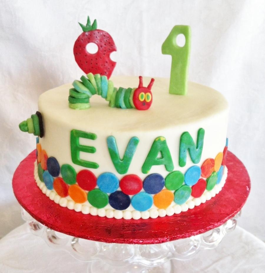 Pleasant Very Hungry Caterpillar 1St Birthday Cakecentral Com Personalised Birthday Cards Veneteletsinfo