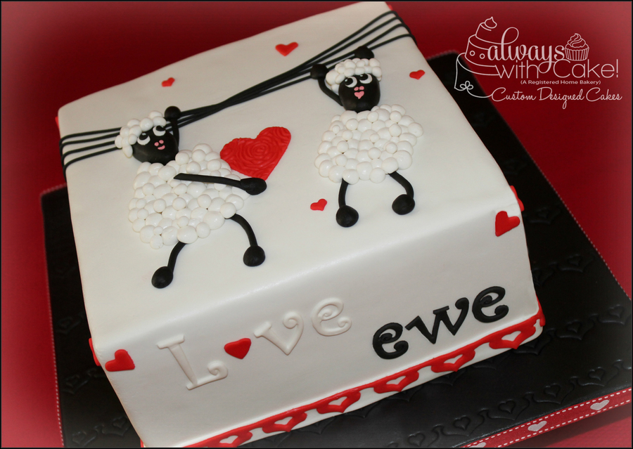 I Just Loved Making This Cake Cake Is Covered In Marshmallow Fondant And All Decorations Are Made Out Of Fondant Ewes Are Made With Fonda on Cake Central