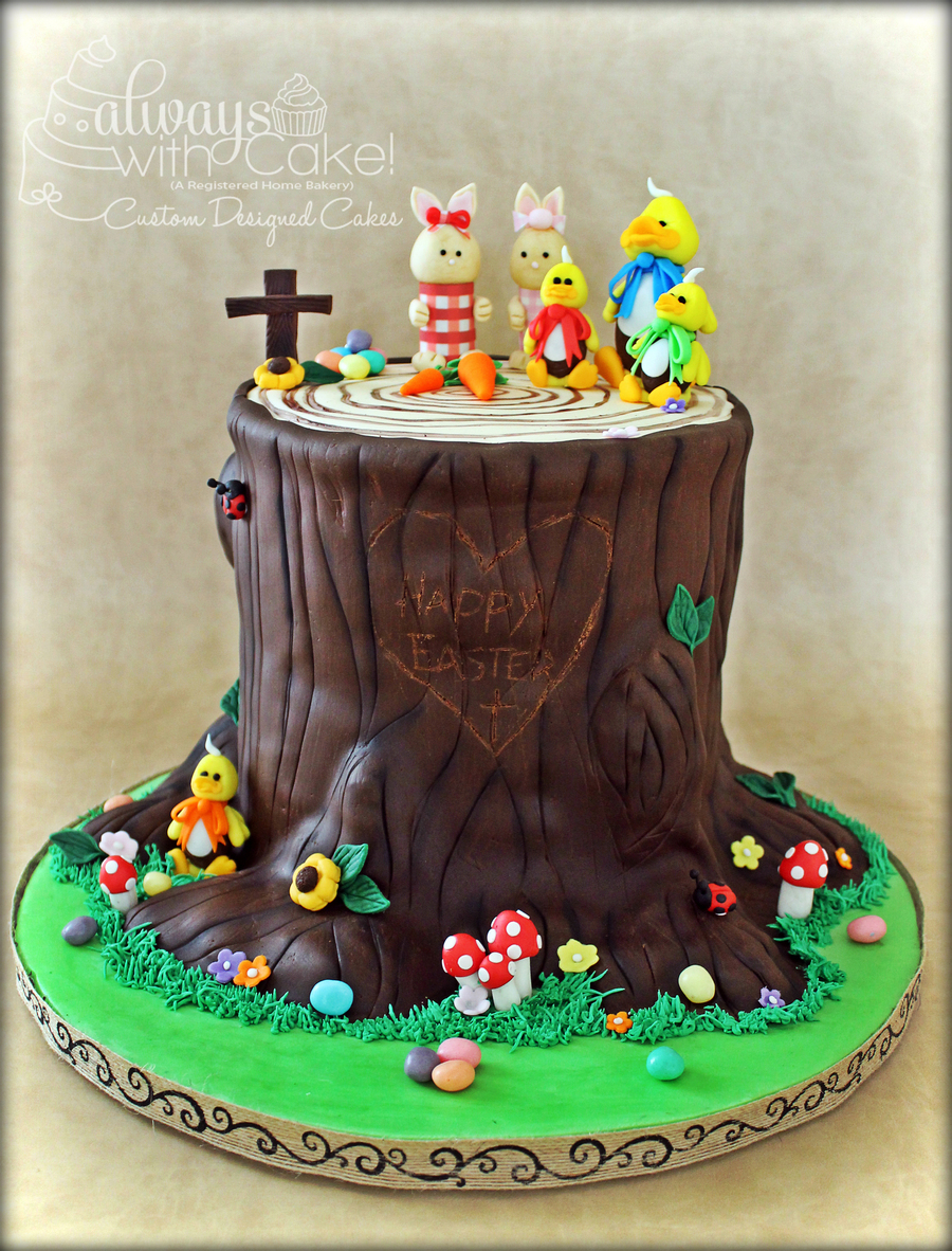 Easter Tree Stump Gathering on Cake Central