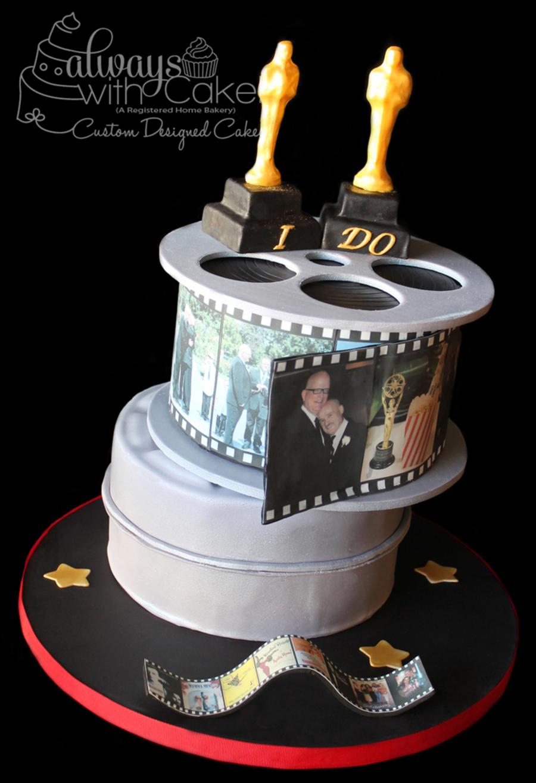 movie themed wedding cake cakecentralcom