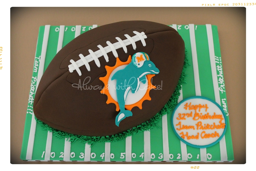 Miami Dolphins Football on Cake Central