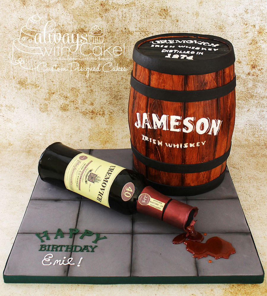 A Jameson Whiskey 40th Cakecentral Com