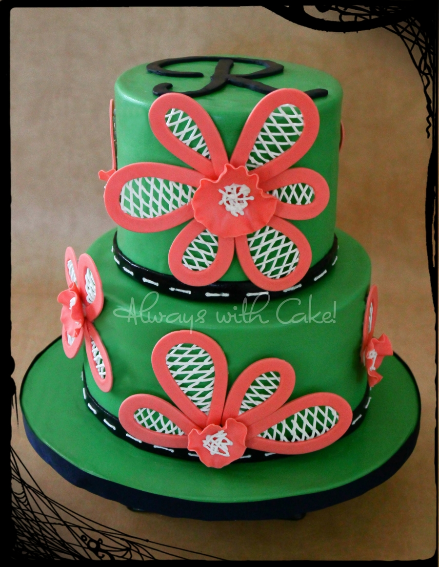 Lattice Flowers on Cake Central