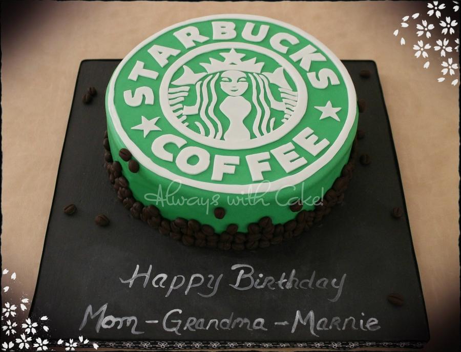 Excellent Starbucks Logo Cakecentral Com Funny Birthday Cards Online Unhofree Goldxyz