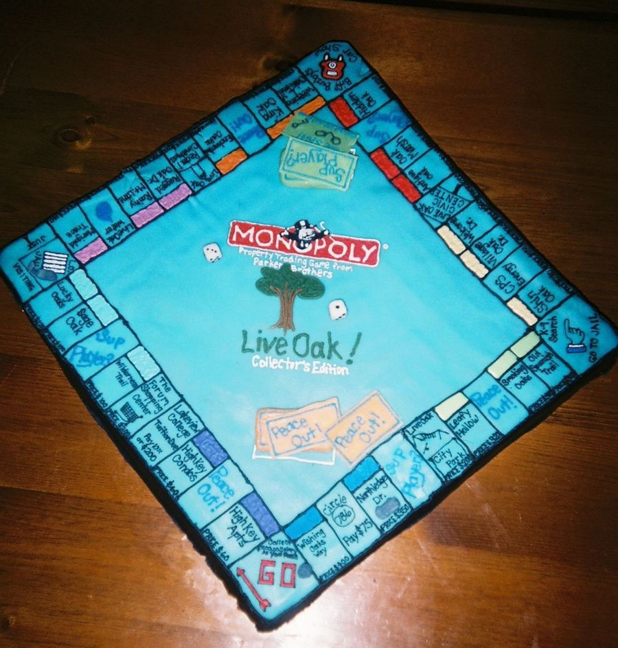 Monopoly Birthday Cake on Cake Central