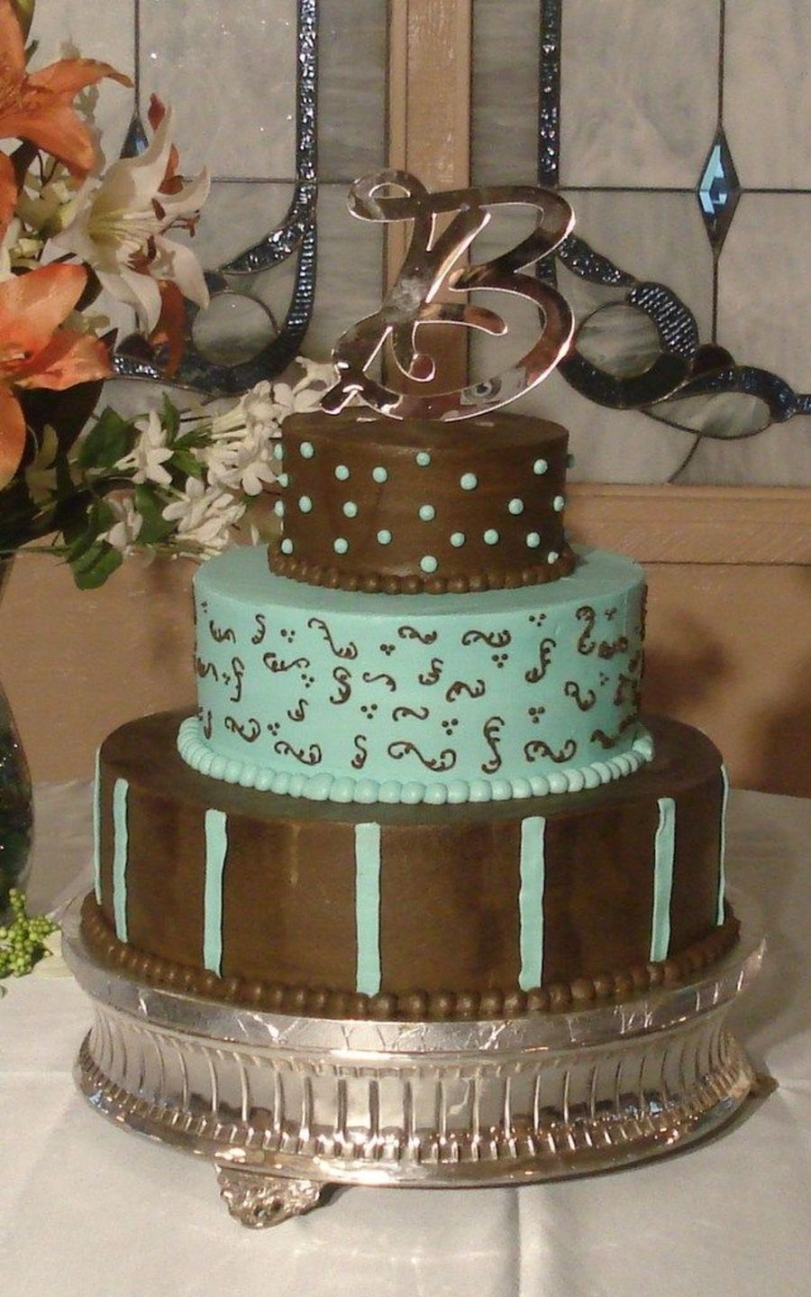 Chocolate Brown And Blue on Cake Central