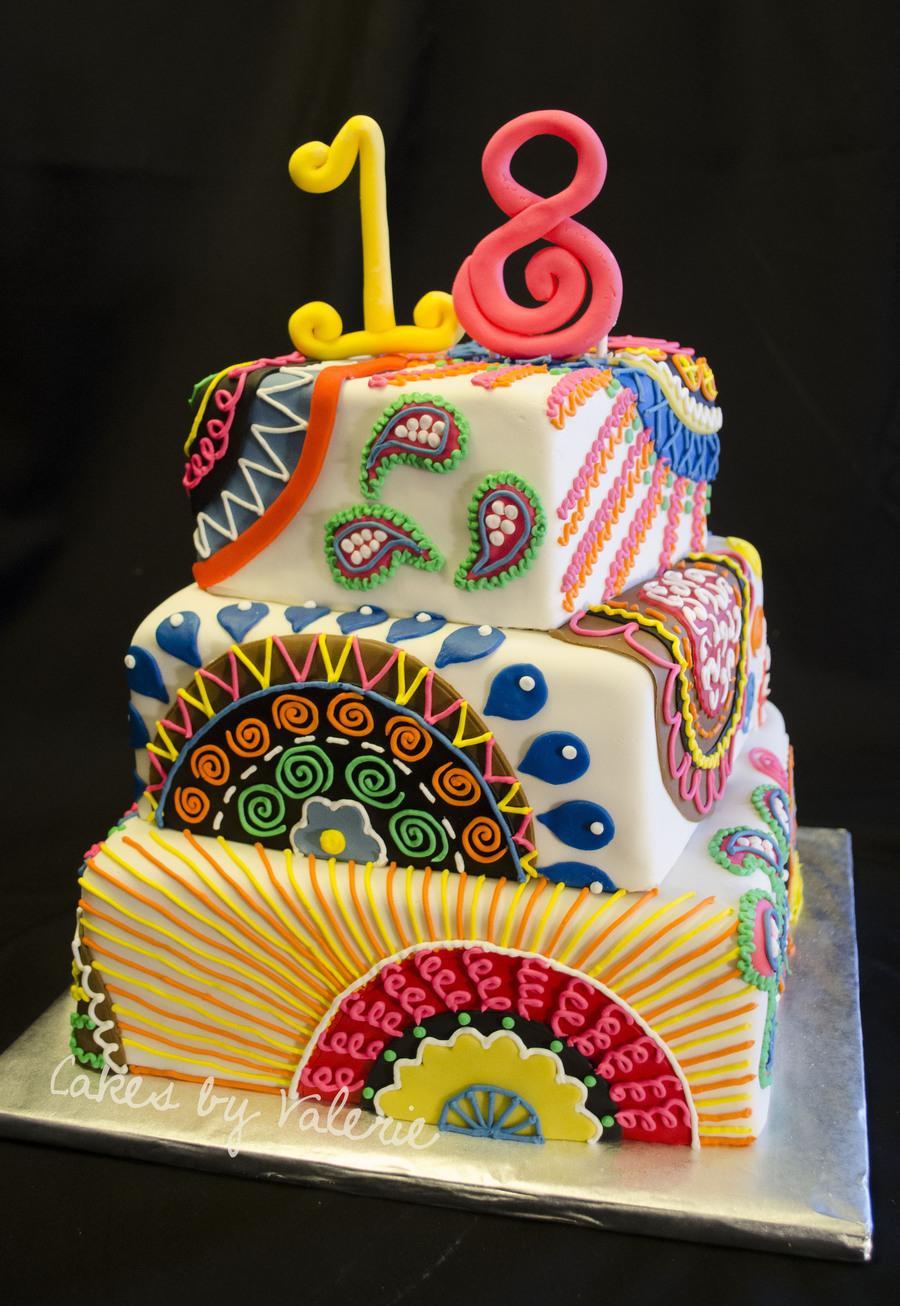 Paisley Cake Design Easy