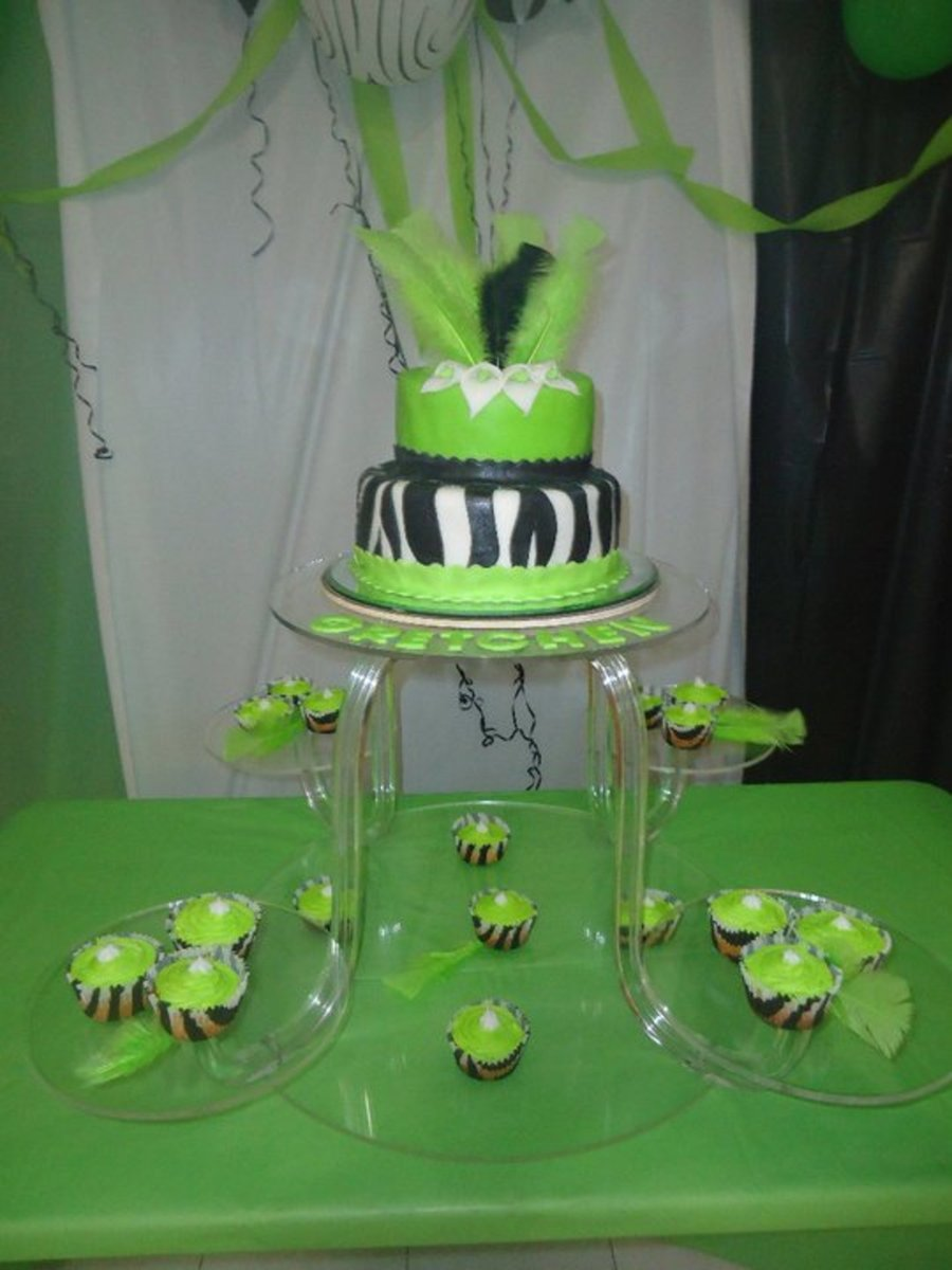 Zebra Green on Cake Central