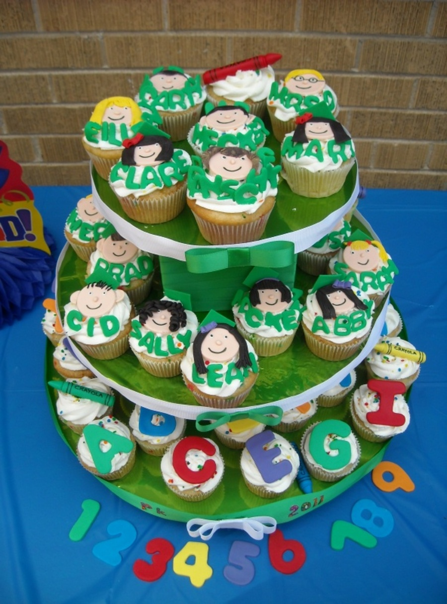 Preschool Graduation Tower on Cake Central