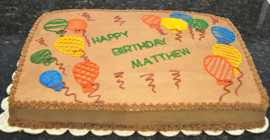 Matthew's Birthday Cake on Cake Central