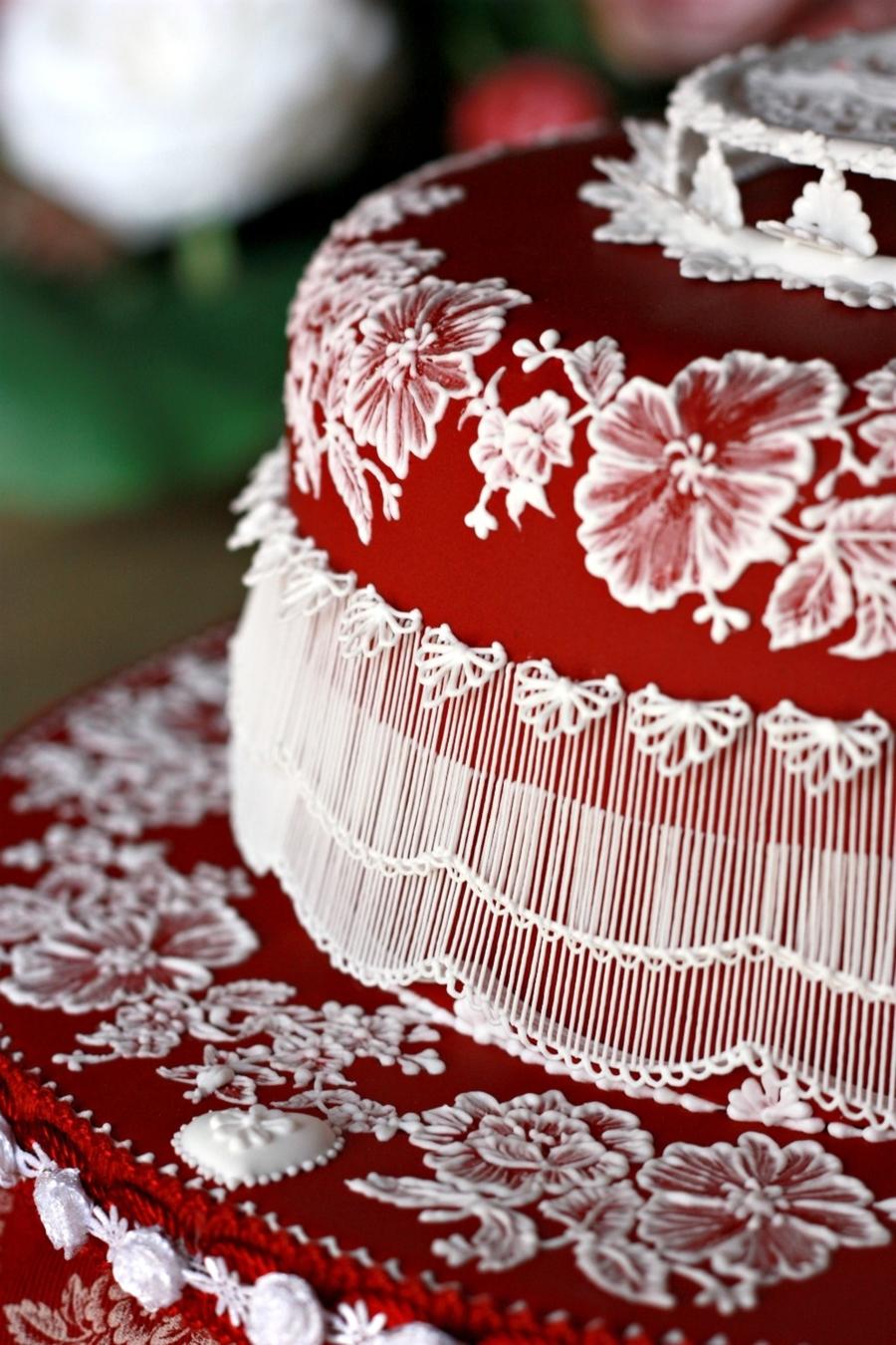Кружева для торта рецепт