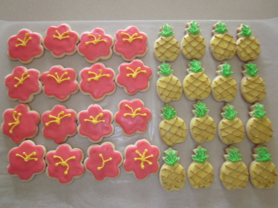 Hawaiian Luau Cookies on Cake Central