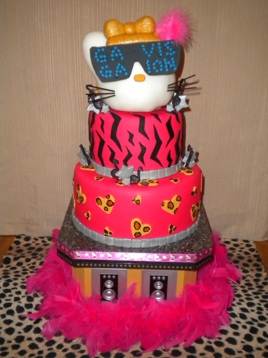 Hello Kitty As Lady Gaga  on Cake Central