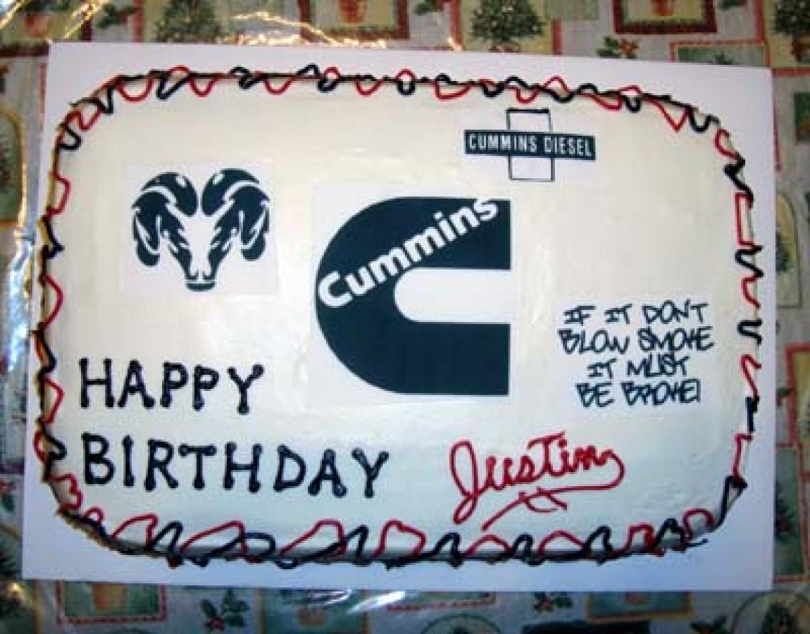 Cummins Birthday Cake
