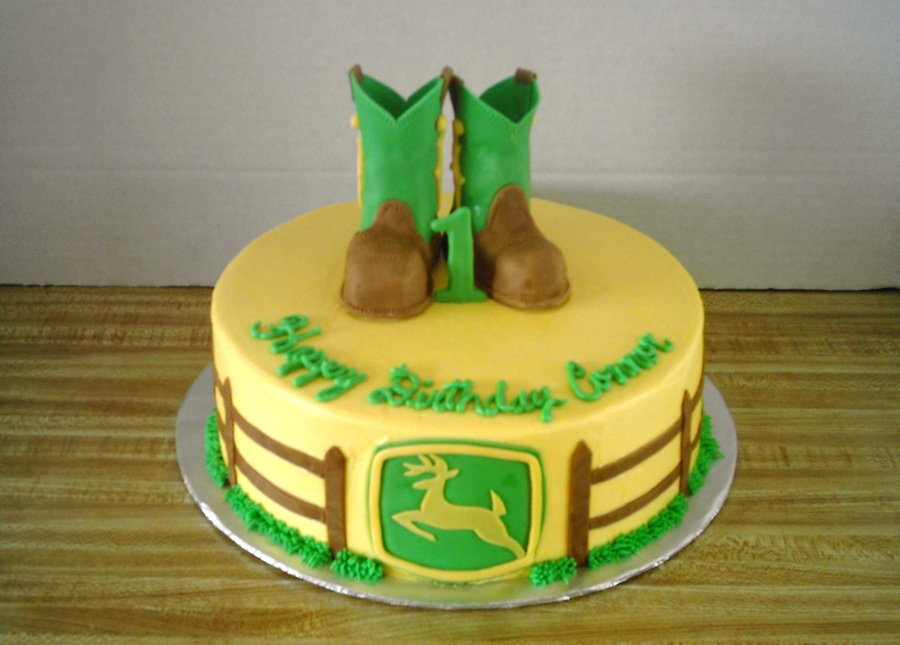 John Deere Boot Cake on Cake Central