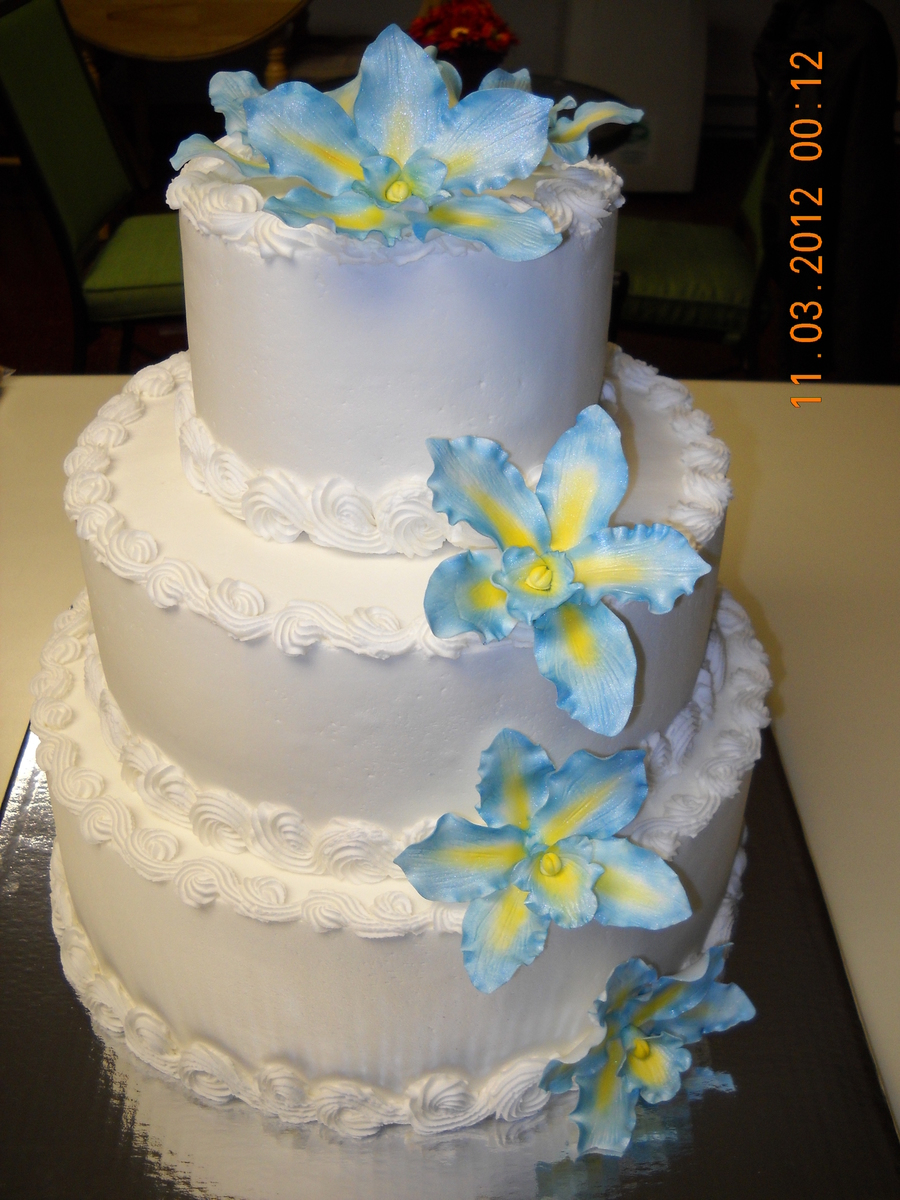 Orchid Wedding Cake 001Jpg on Cake Central