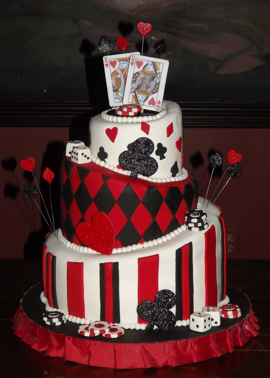 Casino Themed Wedding Cake on Cake Central