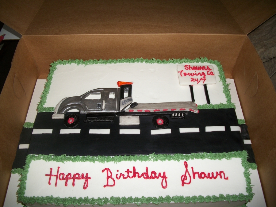 Fantastic Tow Truck Birthday Cake Cakecentral Com Funny Birthday Cards Online Fluifree Goldxyz