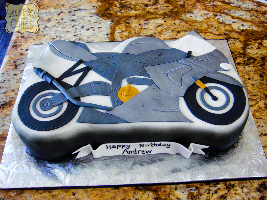Motorcycle Birthday Cake on Cake Central