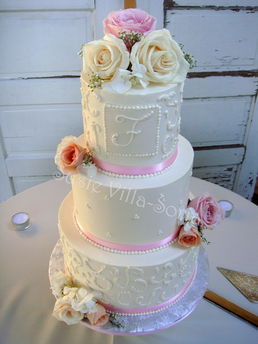 Blush Pink Wedding on Cake Central