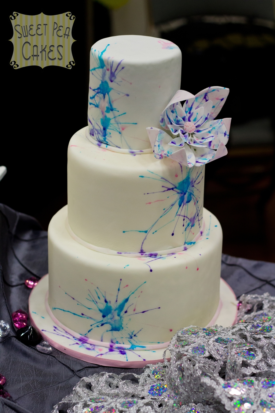 Watercolor Splatters on Cake Central