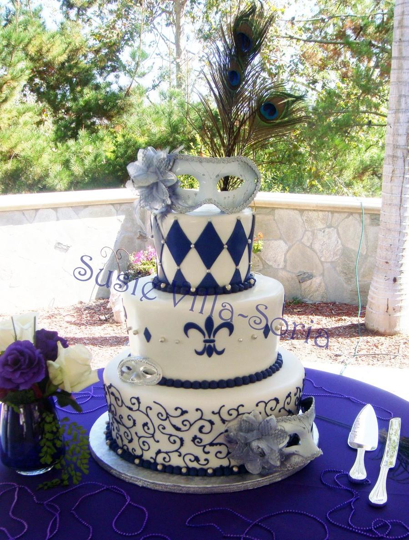 Mardi Gras Themed Wedding - CakeCentral.com