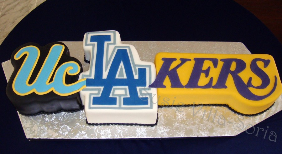La Sports Fan Groom's Cake on Cake Central
