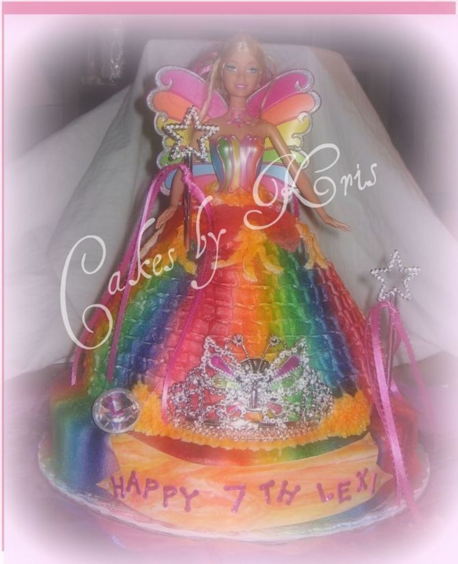Rainbow Barbie on Cake Central