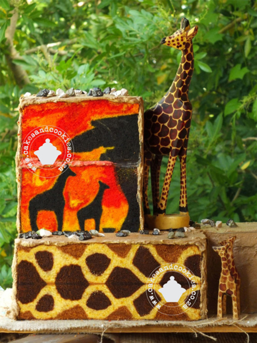My African Sunset Using My Giraffe Pattern Lesson In Combination With My Pictures Inside Cakes Lesson Hope You Enjoy It on Cake Central