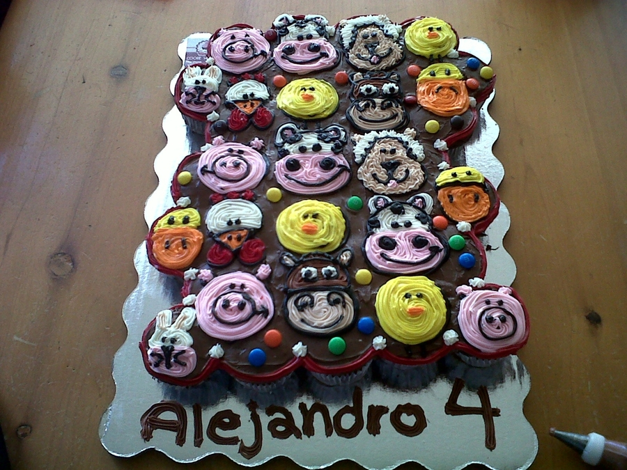 Farm Animal Cupcakes Cakes on Cake Central