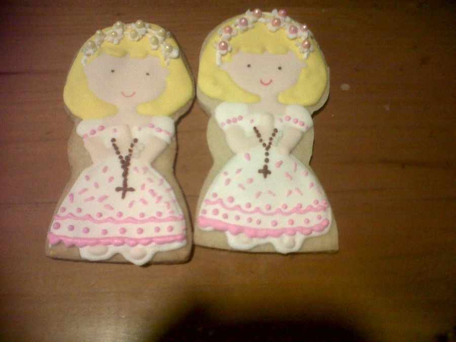 Communion Cookie Girls on Cake Central