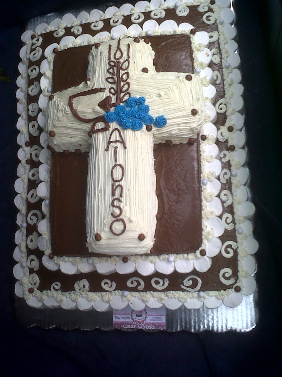 Communion Cross on Cake Central