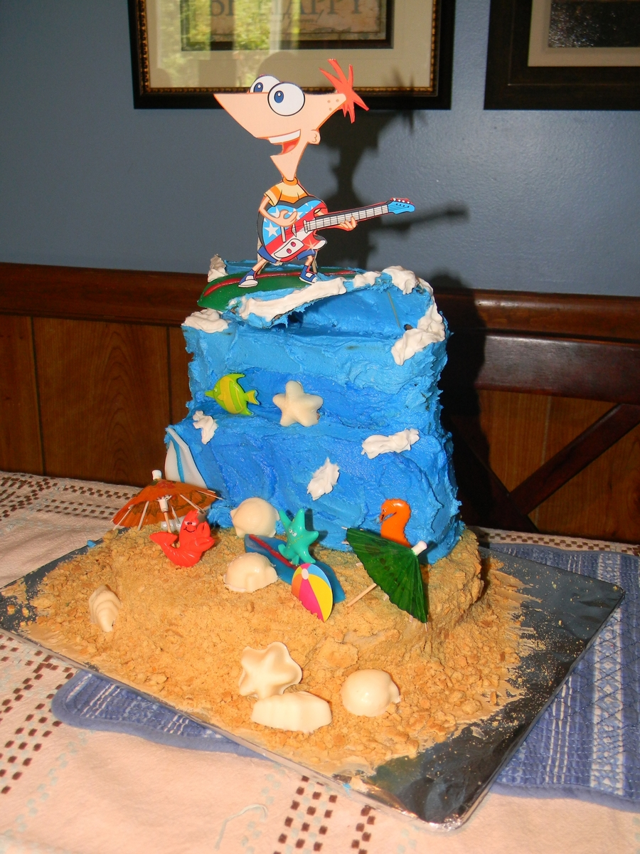 Backyard Beach Phineas And Ferb on Cake Central