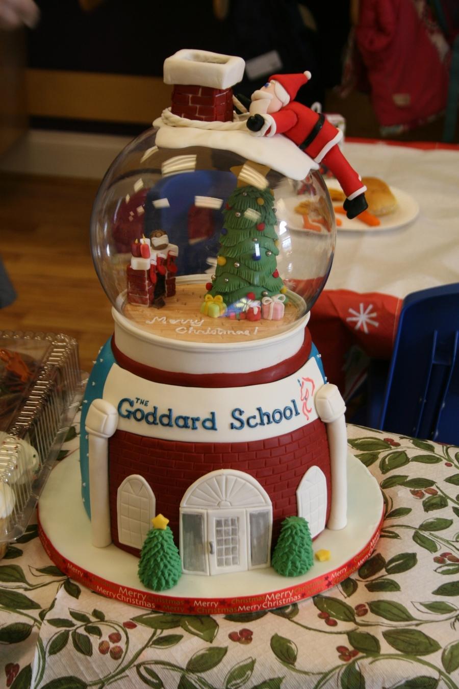 Snow Globe Christmas Cake Cakecentral Com