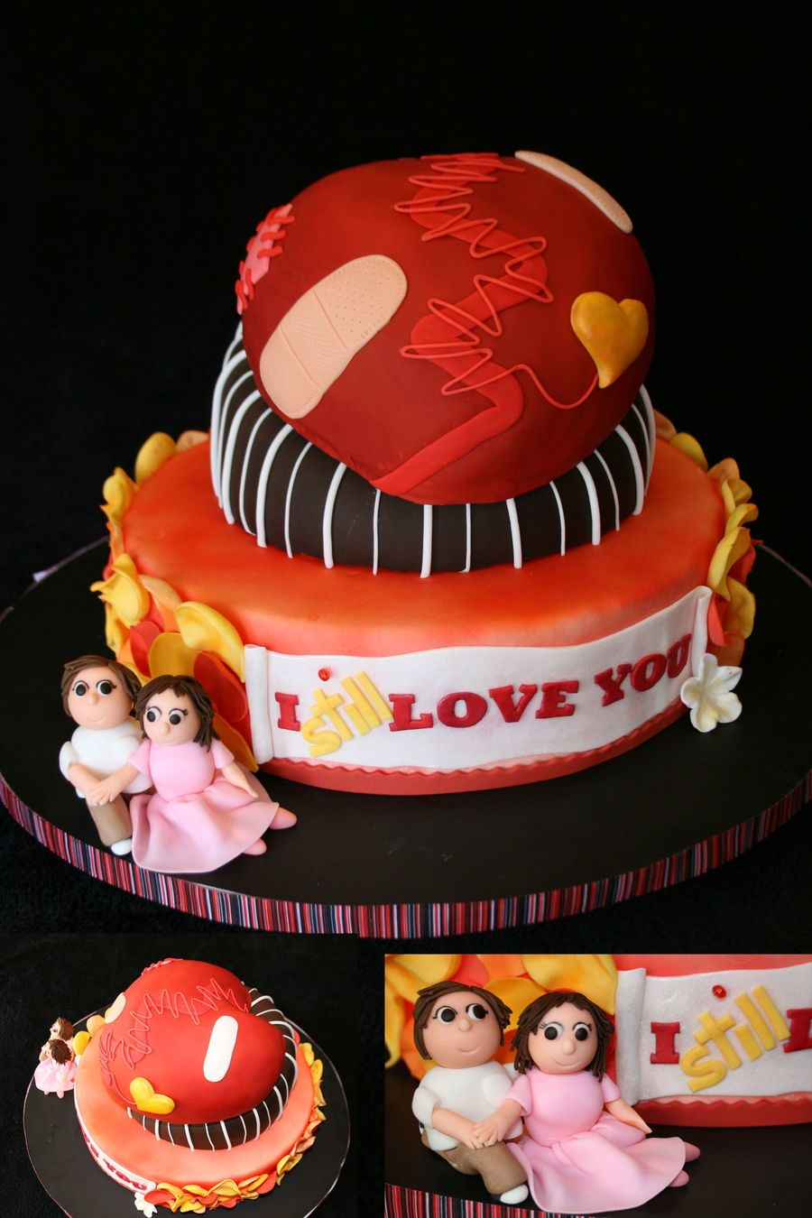 I Still Love You Valentine Cake  on Cake Central