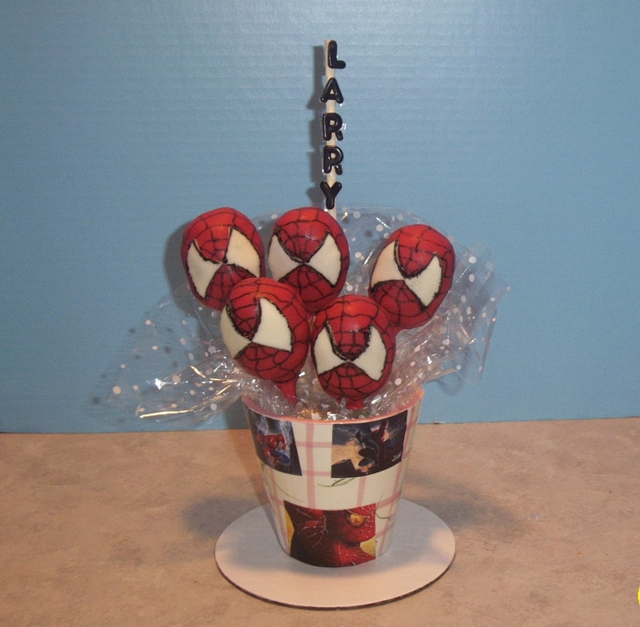 Spiderman Cake Pops on Cake Central