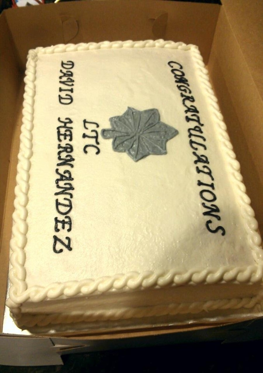 Army Ltc Promotion on Cake Central